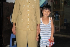 Hong Nhung & her grandmother